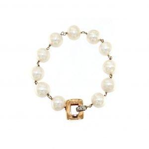 Bracciale a catena con perle