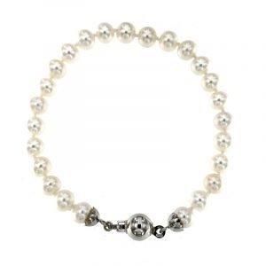 Bracciale di perle di mare Akoya