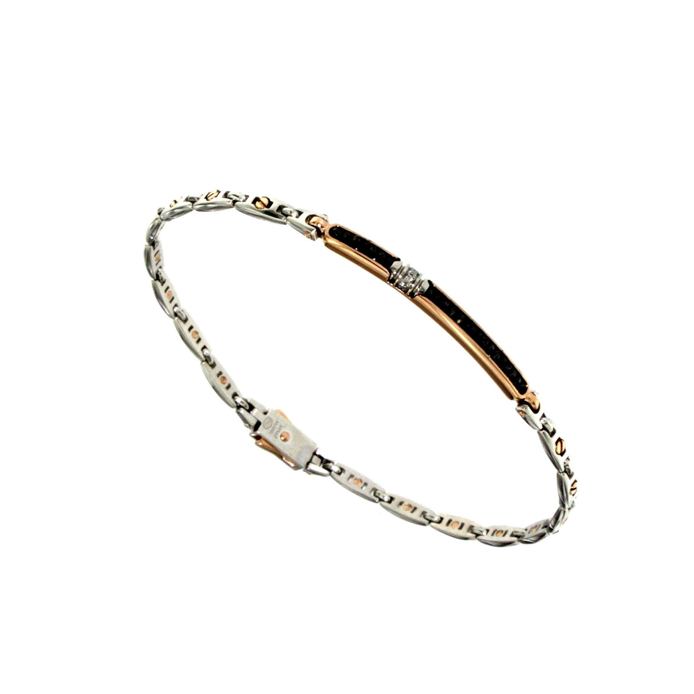 Bracciale oro con diamanti neri