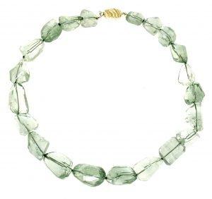 Collana classica di ametista verde