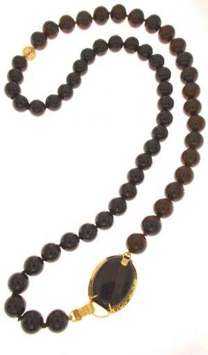 Collana con boules di ossidiana e onice nero