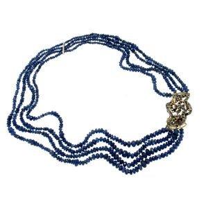 Collana di zaffiri blu