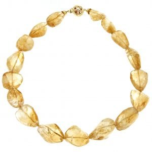 Citrine quartz choker necklace