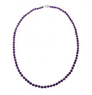 Natural amethyst choker necklace