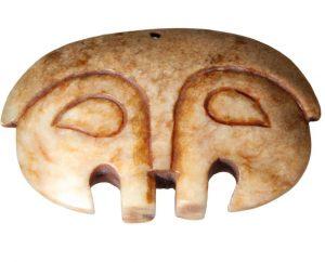 Giada antica incisa raffigurante un viso