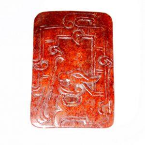 Manufatto in giada naturale incisa antica