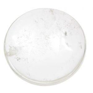disco di quarzo jalino trasparente